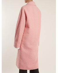 Marni Pink Single-breasted Alpaca And Silk-blend Coat