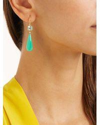 Irene Neuwirth - Metallic Diamond & Emerald Gold Earrings - Lyst