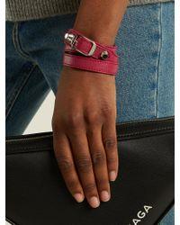 Balenciaga - Pink Classic Bracelet L - Lyst