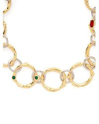 Marni - Metallic Crystal-embellished Chain-link Necklace - Lyst