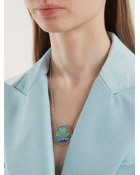 Jacquie Aiche - Multicolor Sunset Pendant Diamond Necklace - Lyst