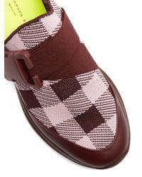 Christopher Kane - Multicolor Gingham Knit Trainer Slides - Lyst