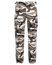 Balenciaga - Multicolor Camouflage Print Cotton Cargo Trousers for Men - Lyst