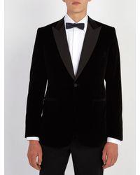 Kilgour - Black Single-breasted Velvet Blazer for Men - Lyst