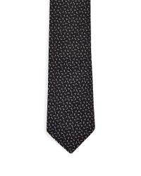 Saint Laurent - Black Logo-jacquard Silk-twill Tie for Men - Lyst