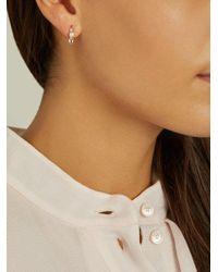 Loren Stewart - Blue Diamond, Topaz, Pearl & Yellow-gold Earrings - Lyst