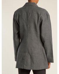 Marques'Almeida - Gray Notch-lapel Single-breasted Denim Blazer - Lyst