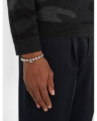 Alexander McQueen - Metallic Skull Beaded Bracelet - Lyst