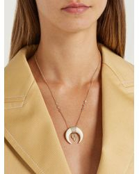Jacquie Aiche - Metallic - Diamond & Gold Necklace - Womens - Yellow Gold - Lyst