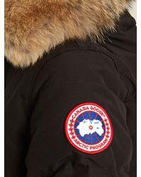 Canada Goose - Black Chelsea Fur-trimmed Down Jacket - Lyst