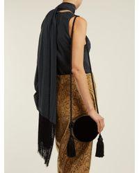 Hillier Bartley - Black Tasseled Collar Box Leather Cross-body Bag - Lyst