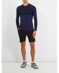 Falke - Blue Crew-neck Long-sleeved Running T-shirt for Men - Lyst