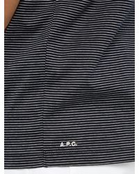 A.P.C. - Blue Jimmy Fine Stripe Cotton T Shirt for Men - Lyst