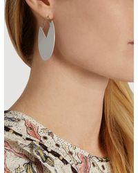 Isabel Marant - White Circle Earrings - Lyst