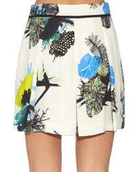 Proenza Schouler - Multicolor Ikebana Floral-print Shorts - Lyst