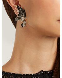 Lanvin - Black Swan Asymmetric Clip-on Earrings - Lyst