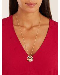 Noor Fares - Multicolor Diamond, Topaz & Yellow-gold Necklace - Lyst