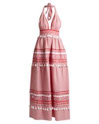 Dodo Bar Or | Multicolor David Halterneck Cotton Maxi Dress | Lyst