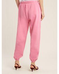 Natasha Zinko | Pink Drawstring-waist Jersey Track Pants | Lyst