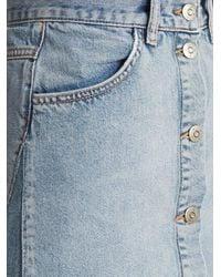 MiH Jeans - Blue Park A-line Denim Skirt - Lyst