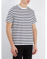Rag & Bone - White Henry Striped Cotton T-shirt for Men - Lyst