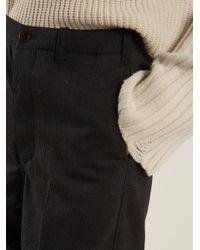 Chimala - Gray Striped Straight-leg Wool-blend Trousers - Lyst