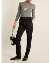 Bella Freud - Gray Love For You Cashmere-blend Sweater - Lyst