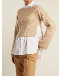 Khaite - Natural Lila Step-hem Ribbed-knit Sweater - Lyst