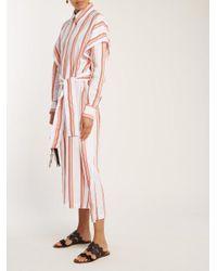 Diane von Furstenberg - Multicolor Striped Cotton Shirtdress - Lyst