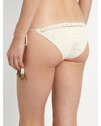 She Made Me - Natural Essential Tie-side Crochet Bikini Briefs - Lyst