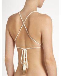 She Made Me - Natural Essential Crochet Triangle Bikini Top - Lyst