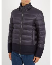 Moncler - Blue Riom Wool-trimmed Quilted Down Jacket for Men - Lyst