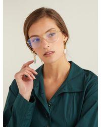 Chloé - Metallic Square-frame Metal Glasses - Lyst