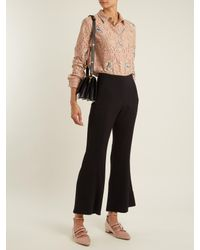 N°21 - Multicolor Floral-embroidered Lace Cotton-blend Shirt - Lyst