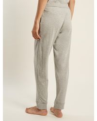 Skin - Gray Cotton-jersey Trousers - Lyst