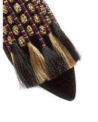 Sanayi 313 - Black Voltaire Velvet Slipper Shoes - Lyst