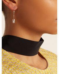 Jacquie Aiche - Green Diamond, Tourmaline & Rose-gold Earring - Lyst