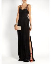 Maria Lucia Hohan Black Erica Pleated Silk-tulle Gown