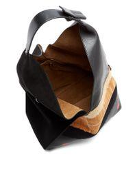 Loewe - Black Sling Polka-dot Leather Shoulder Bag - Lyst