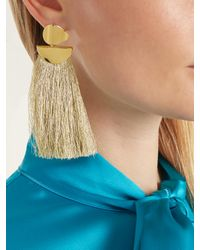 Lizzie Fortunato - Metallic Crater Fringe-drop Gold-plated Earrings - Lyst