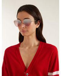 Prada Multicolor Pr 51us Svfad2 Pink Gold Aviator Sunglasses