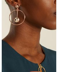 Oscar de la Renta - Multicolor Crystal-embellished Drop Earrings - Lyst