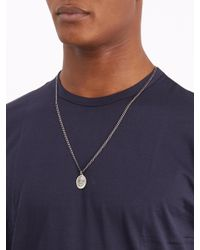 Miansai - Metallic Dove Pendant Silver Necklace for Men - Lyst