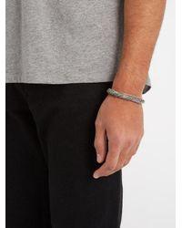 Emanuele Bicocchi - Metallic Twisted Sterling-silver Bracelet for Men - Lyst