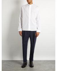Haider Ackermann - White Byron Stand-collar Cotton Shirt for Men - Lyst