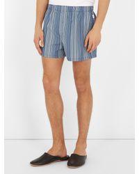 Paul Smith - Blue Striped Cotton Boxer Shorts for Men - Lyst