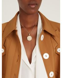 Versace - Multicolor V Logo-engraved Pendant Necklace - Lyst