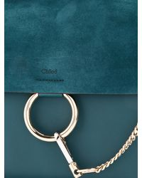 Chloé - Green Faye Medium Suede And Leather Shoulder Bag - Lyst