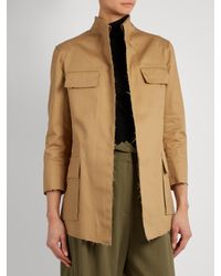 Mafalda Von Hessen - Natural Raw-edge Cotton-blend Jacket - Lyst
