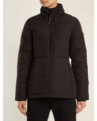 Canada Goose - Black Chelsea Fur-trimmed Down Jacket - Lyst